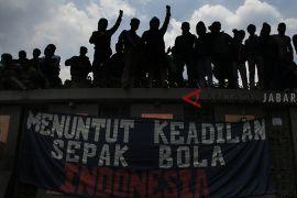 Aksi protes bobotoh Persib