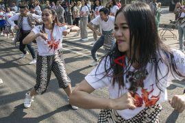 Flashmob Indonesia menari 2018