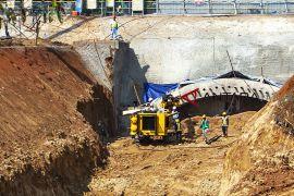 Proyek terowongan kereta cepat Jakarta - Bandung