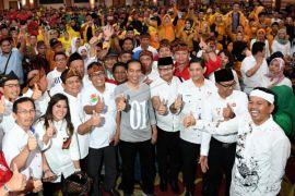 Jokowi temui caleg partai koalisi di Jabar