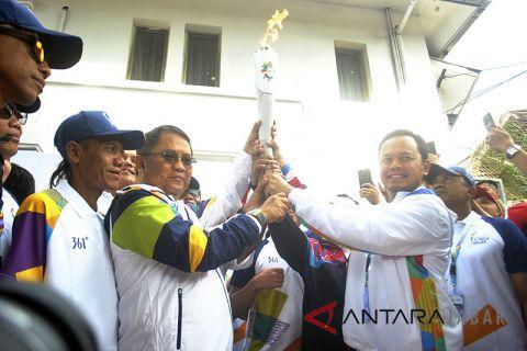 Kirab obor Asian Games 2018