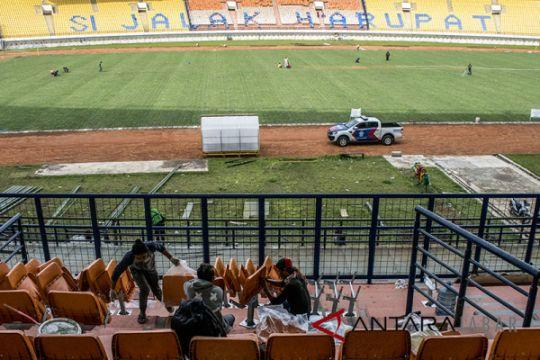 Perbaikan stadion Si Jalak Harupat  dikebut untuk Asian Games