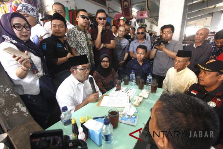 Ridwan Kamil Kunjungi Pedagang Pasar