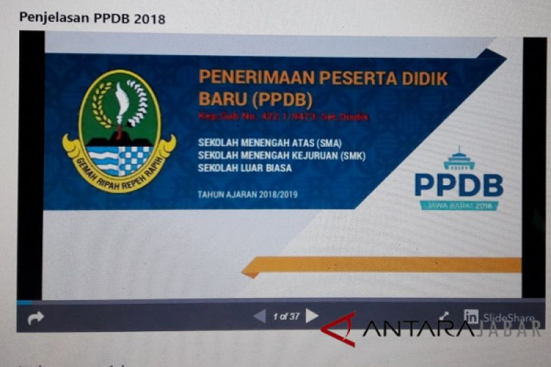 Belum seluruh SMPN Garut terapkan PPDB daring