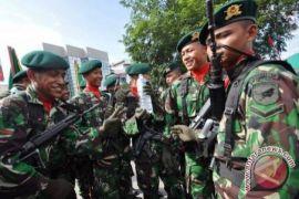 Danrindam XII/TPR Pimpin Apel HUT TNI
