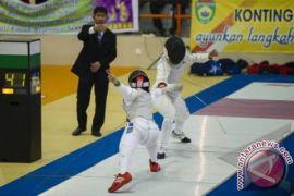 Atlet anggar rebutkan dua medali emas di hari ketiga