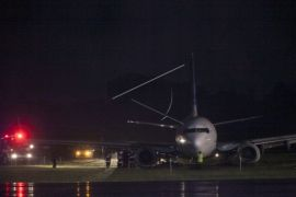 Pesawat Garuda Indonesia Tergelincir