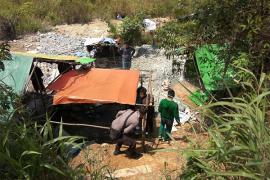 Empat pekerja tambang emas tanpa izin ditangkap