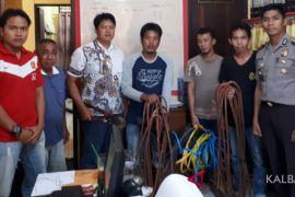Polsek Tayan Hilir amankan tiga pria pencuri kabel