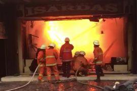 Kebakaran di Gerai  Isardas tidak ada korban jiwa