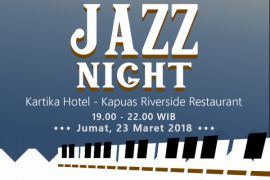 Menikmati musik jazz di tepian Sungai Kapuas