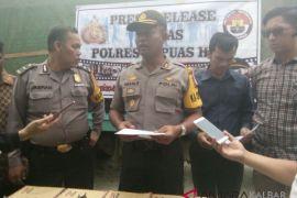 Polres Kapuas-Hulu gagalkan penyelundupan kayu tujuan Pulau Jawa