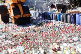 Ribuan barang bukti hasil sitaan dimusnahkan