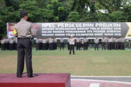 Polda Kalbar geser 1.104 personel ke Polres amankan Pilkada