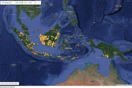 Kembali terpantau sebanyak 526 hotspot di Kalbar