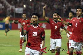 Indonesia cetak gol ke gawang Malaysia