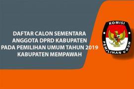 Daftar Calon Sementara Anggota DPRD Kabupaten Mempawah