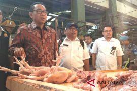 Sekjen Kemendag pantau harga pangan di Pasar Flamboyan