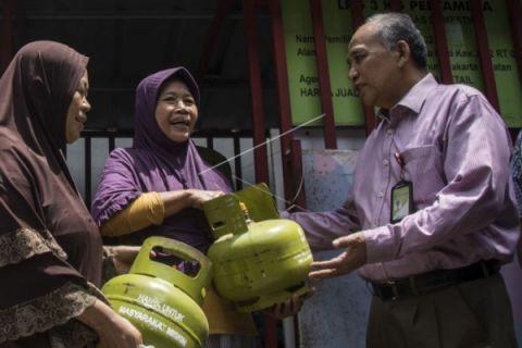 Penyaluran LPG Tiga Kilogram