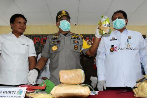 Polda Kalbar musnahkan barang bukti 4,1 kilogram sabu
