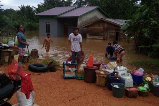 Lima desa di Meliau kembali terendam banjir