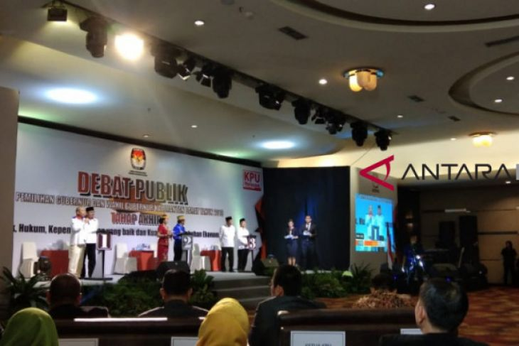 Debat Publik Cagub dan Cawagub Kalbar 2018 tahap tiga