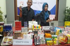 BPOM confiscates hundreds of illegal cosmetics