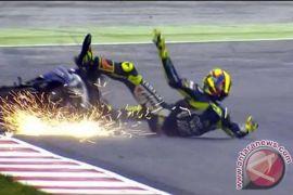 Rossi Cedera Akibat Kecelakaan Motocross