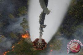 BPBD Kalsel Kerahkan Heli Padamkan Titik Api