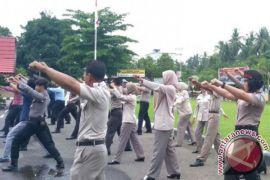 Amankan Pilkada Personil Polres HSS Dilatih