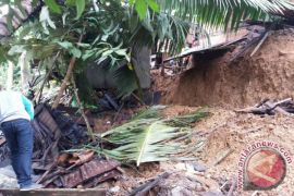 Two houses in Kotabaru hit by landslides