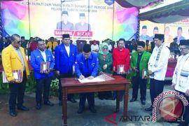 Ketua Partai Demokrat Kalsel Hadiri Deklarasi Bambang-Nizar