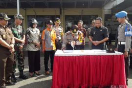 Polres Tabalong terima Linmas pengamanan TPS