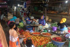 Harga sayur di Pasar Ampera Batulicin naik