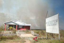 Lahan Kosong di Desa Gunung Raja Terbakar