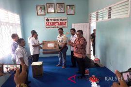 Video - Wartawan Balangan syukuran gedung sekretariat baru