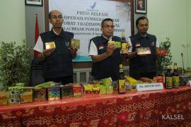 BPOM bongkar gudang obat tradisional ilegal di Tanah Bumbu