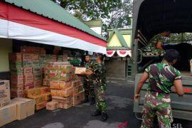 Korem 101 collected 1,343 bales assistance for Lombok