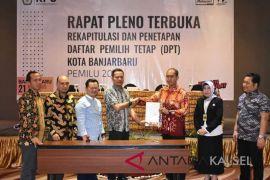 KPU Banjarbaru tetapkan 144.215 DPT pemilu