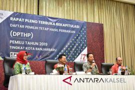 KPU Banjarbaru tetapkan DCT legislatif  374 orang