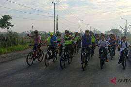 Satlantas Polresta Banjarmasin gaungkan bersepeda ke sekolah