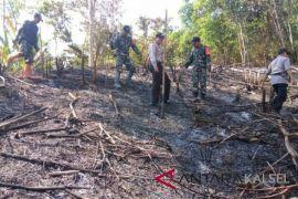 Lahan belukar di HST kembali terbakar, Satgas Karhutla harus kerja ekstra