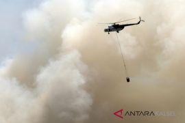 Two helicopters put out five hectares of burned land in Jejangkit
