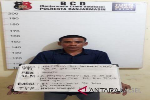 Polsekta Banjarmasin Tengah sita sembilan paket narkotika