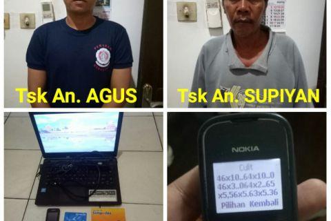 Polisi Tabalong  ciduk dua pelaku judi togel