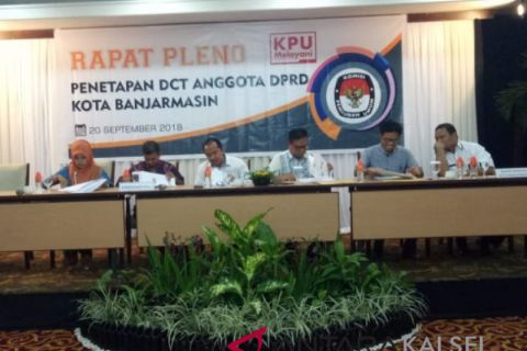 KPU Banjarmasin tetapkan 583 DCT anggota DPRD