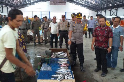 Kapolres HST pimpin sidak ketersediaan pangan di Pasar Agrobisnis Murakata