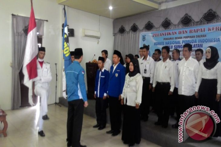 Pengurus DPD KNPI Banjarbaru 2017-2020 Dikukuhkan
