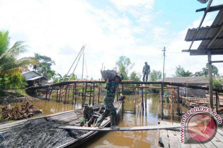 TMMD Hampir Rampung Kerjakan Satu Jembatan Besar