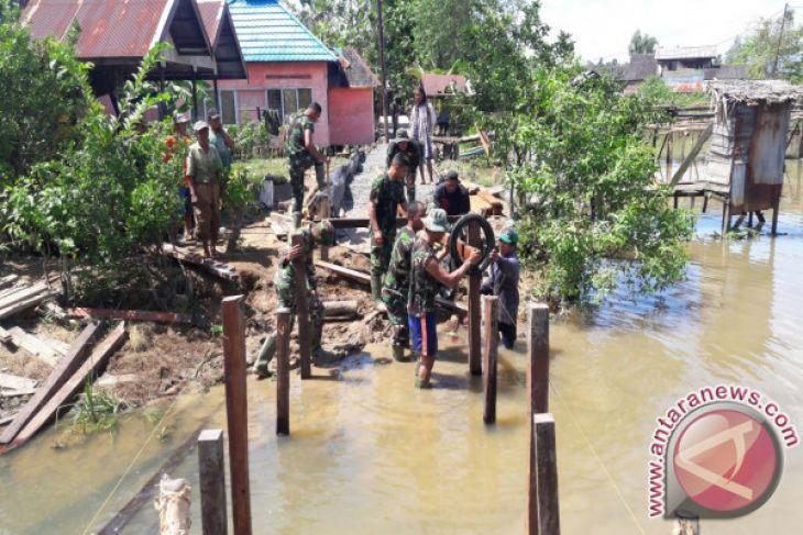 Pembangunan Jembatan Kecil TMMD Capai 71 Persen